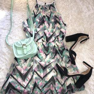 Dresses & Skirts - Chevron Multi Color Print Dress